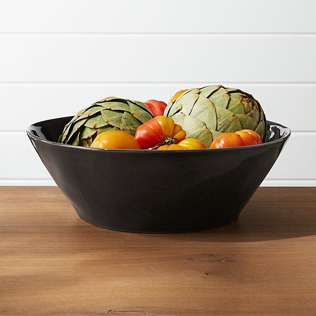 Marin Dark Grey Large Serving Bowl - Image 1 of 2