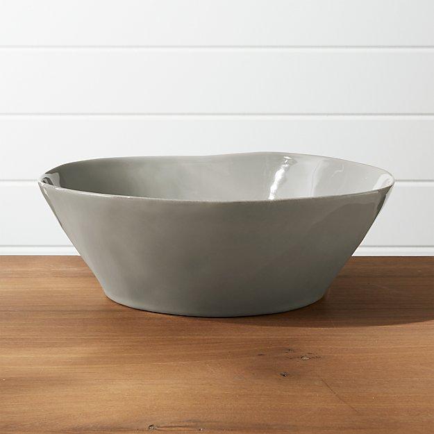 Marin Grey Large Serving Bowl - Image 1 of 2