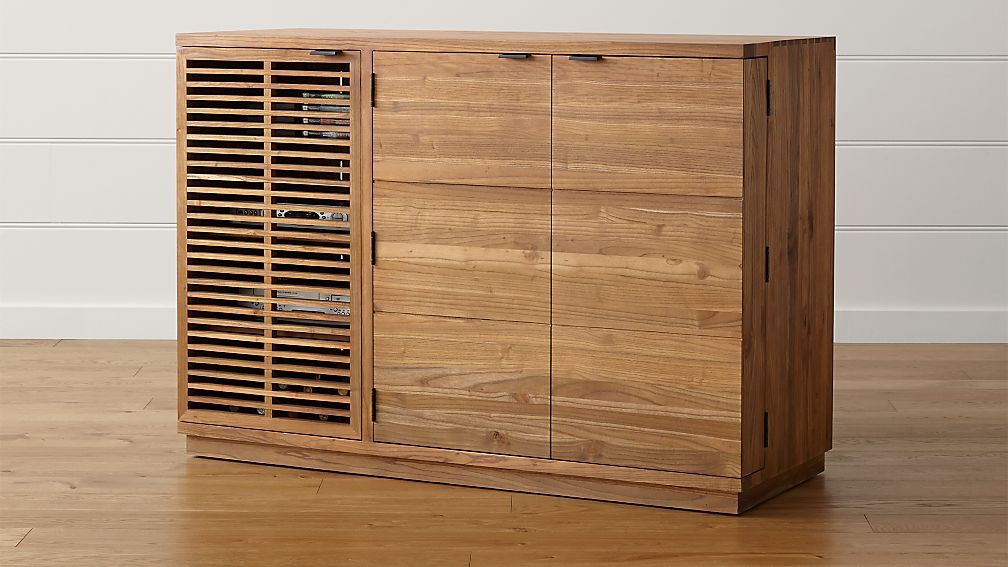 black cabinet slatted il credenza media walnut with console etsy market solid doors htmt
