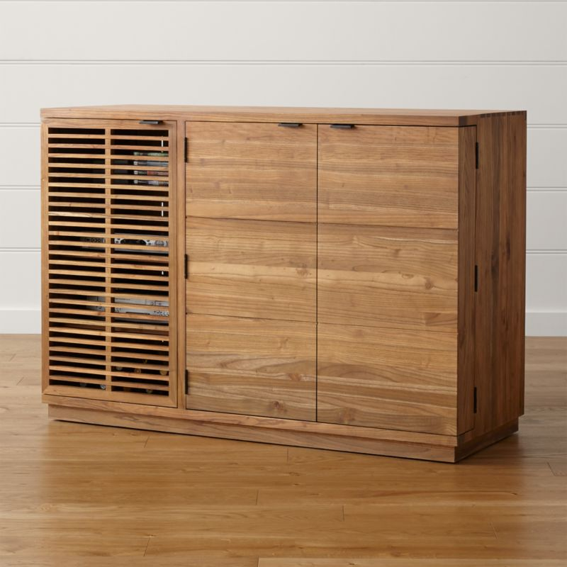 Marin Natural Large Bar Media Cabinet