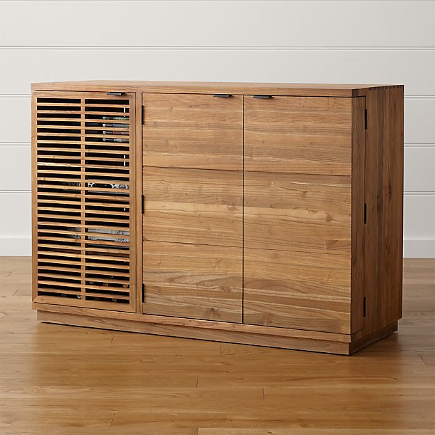 Marin Natural Large Bar/Media Cabinet - Image 1 of 11