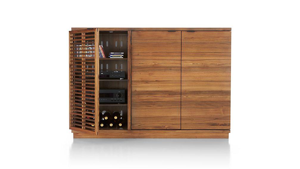 Marin Natural Large Bar/Media Cabinet