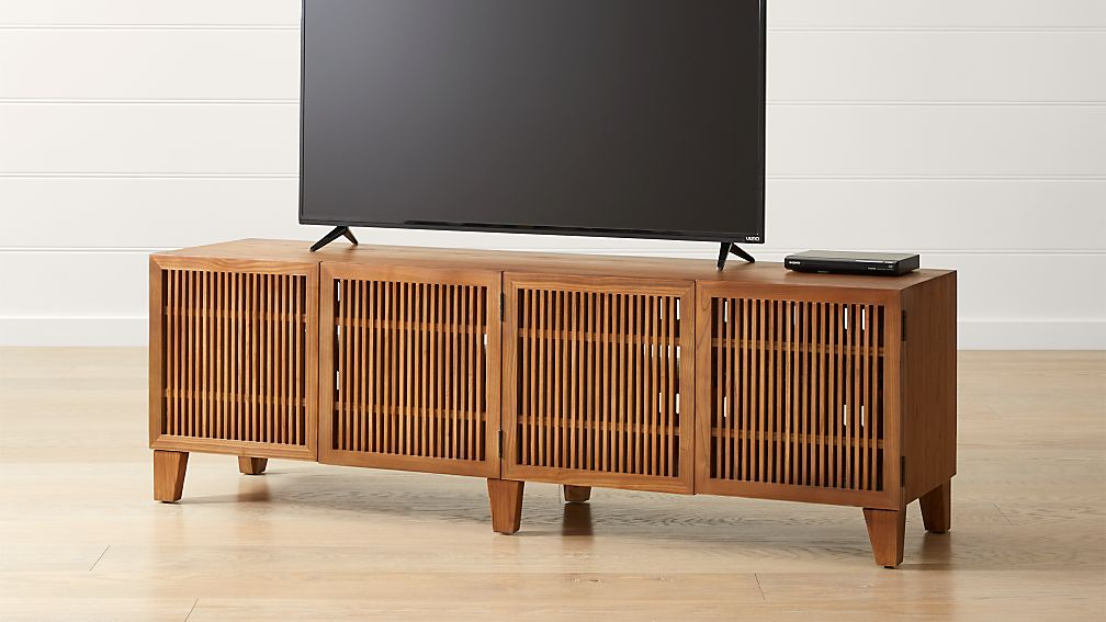 "Marin Natural 75.25"" Media Console - Image 1 of 10"
