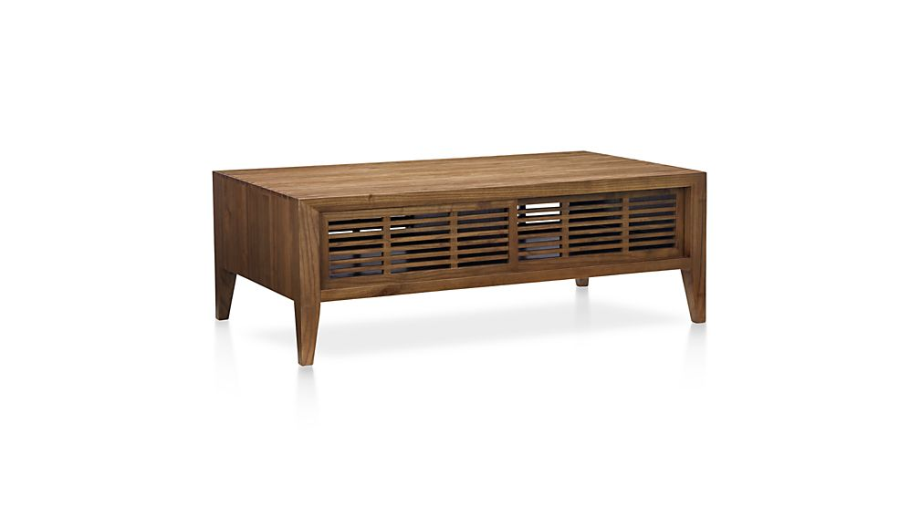 marin natural solid wood coffee table | crate and barrel