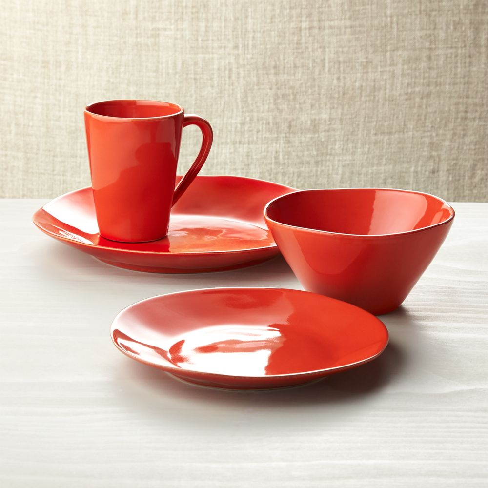 Marin Orange 4-Piece Place Setting - Crate and Barrel