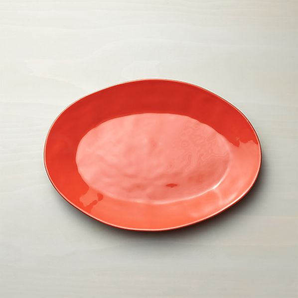 Marin Orange Small Oval Platter