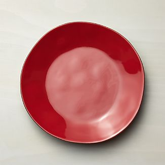 Marin Red Dinner Plate & Red Dinnerware | Crate and Barrel
