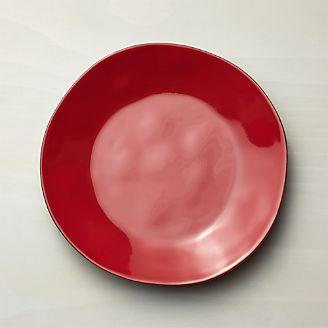 Marin Red Dinner Plate & Dinner Plates: Square Oval Rectangular \u0026 Round | Crate and Barrel
