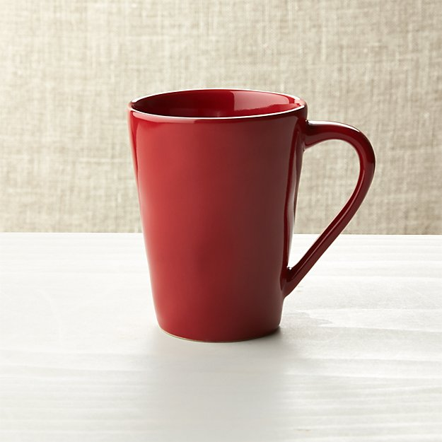 marin red dinnerware crate and barrel