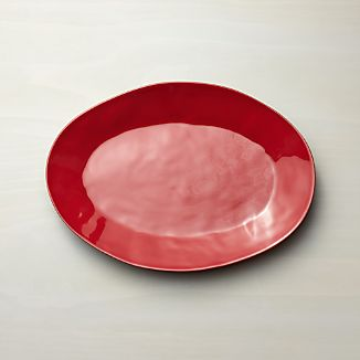 Marin Red Small Oval Platter