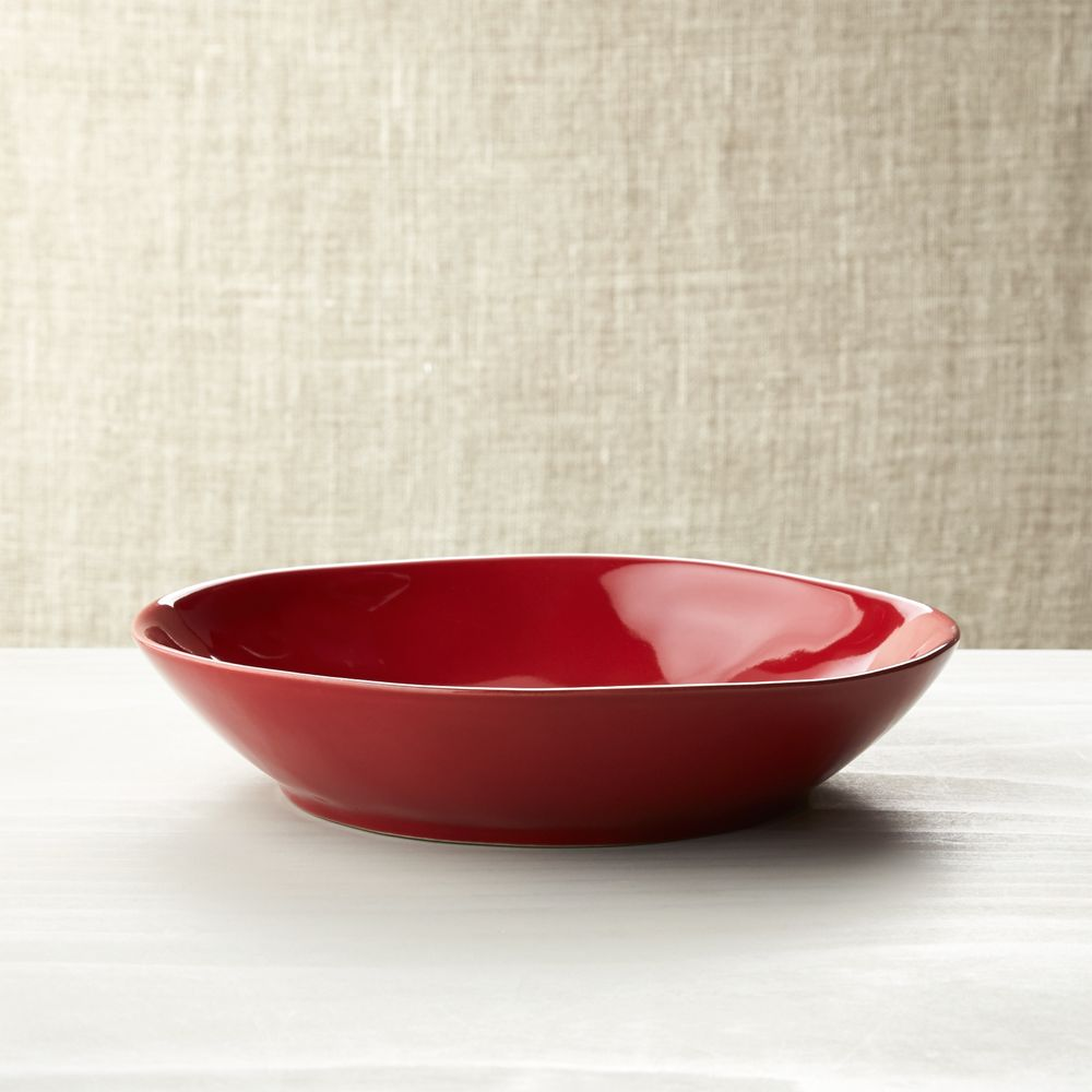 Marin Red Pasta-Low Bowl - Crate and Barrel