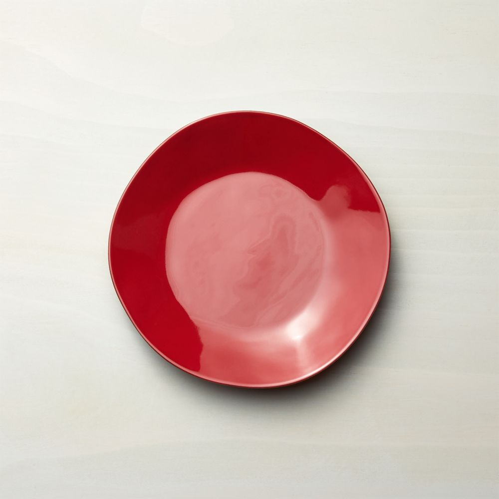 Marin Red Salad Plate - Crate and Barrel