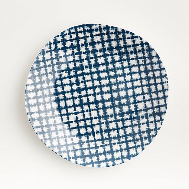 Marin Shibori Melamine Dinner Plate - Image 1 of 6