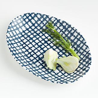 Marin Shibori Melamine Small Oval Platter