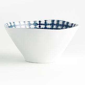 Marin Shibori Melamine Serve Bowl