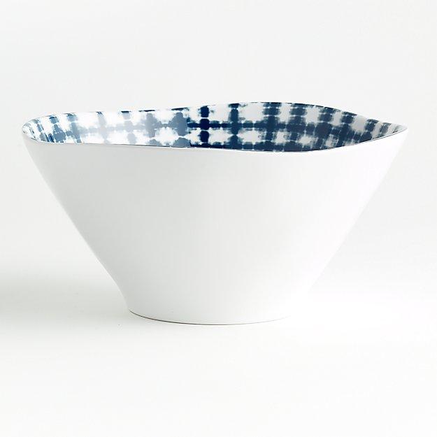 Marin Shibori Melamine Serve Bowl - Image 1 of 6