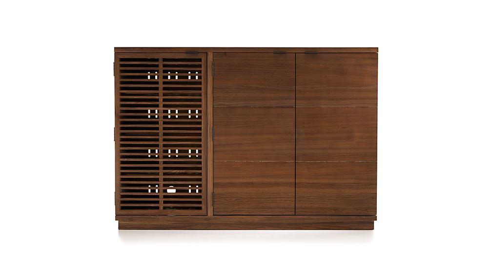 Marin Shiitake Large Bar/Media Cabinet