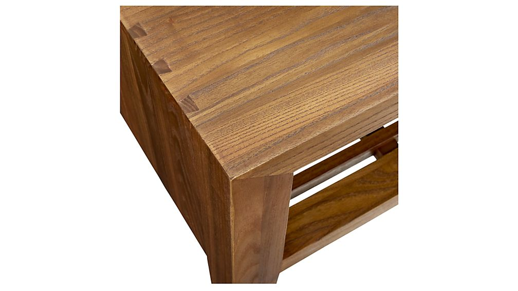 Marin Natural Solid Wood Side Table