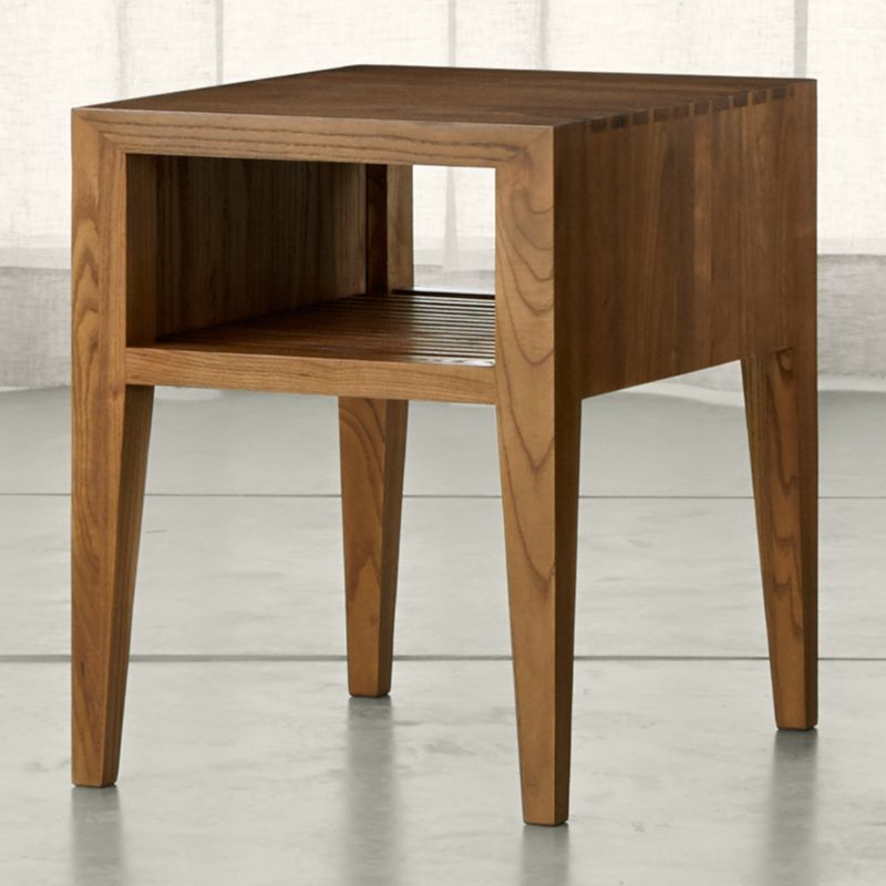 Marin Natural Solid Wood Side Table. Wood Accent Table   Crate and Barrel