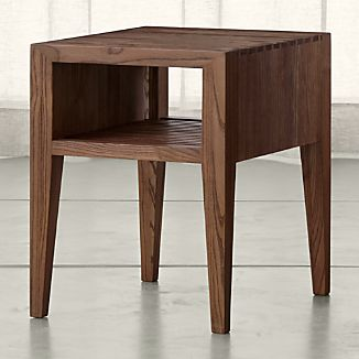 Marin Shiitake Solid Wood Side Table