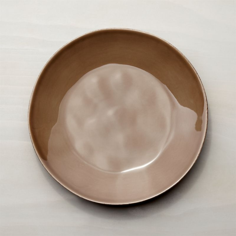 Marin Taupe Dinner Plate Crate And Barrel
