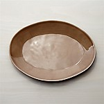 Marin Taupe Oval Platter 15.75