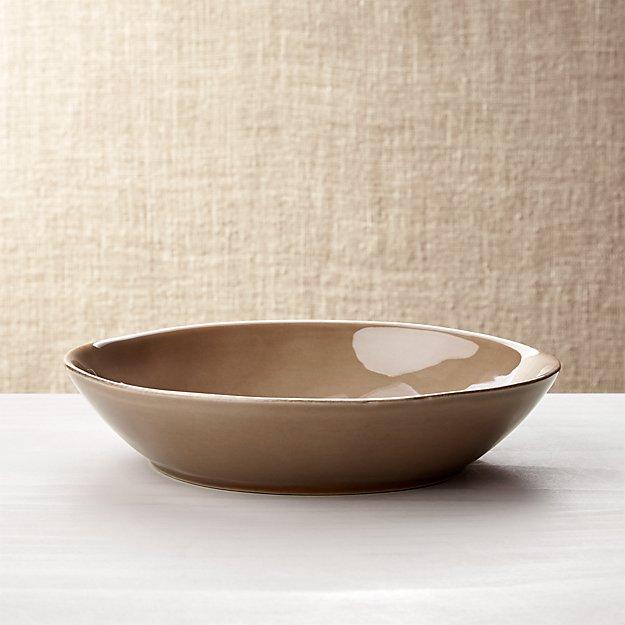 Marin Taupe Pasta/Soup Bowl
