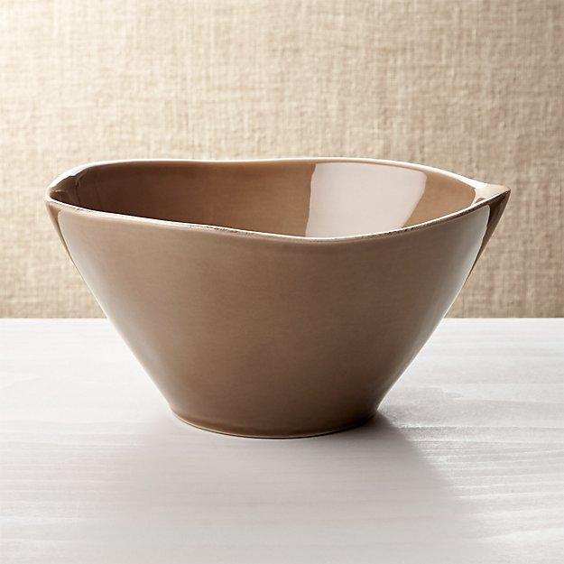 Marin Dark Taupe Serving Bowl