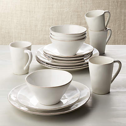 View testMarin White 16-Piece Dinnerware Set