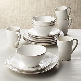 Marin White 16-Piece Dinnerware Set