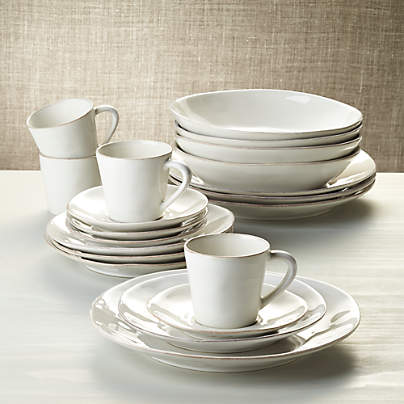View testMarin White 20-Piece Dinnerware Set