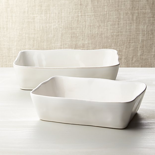 Marin Rectangular White Baking Dishes