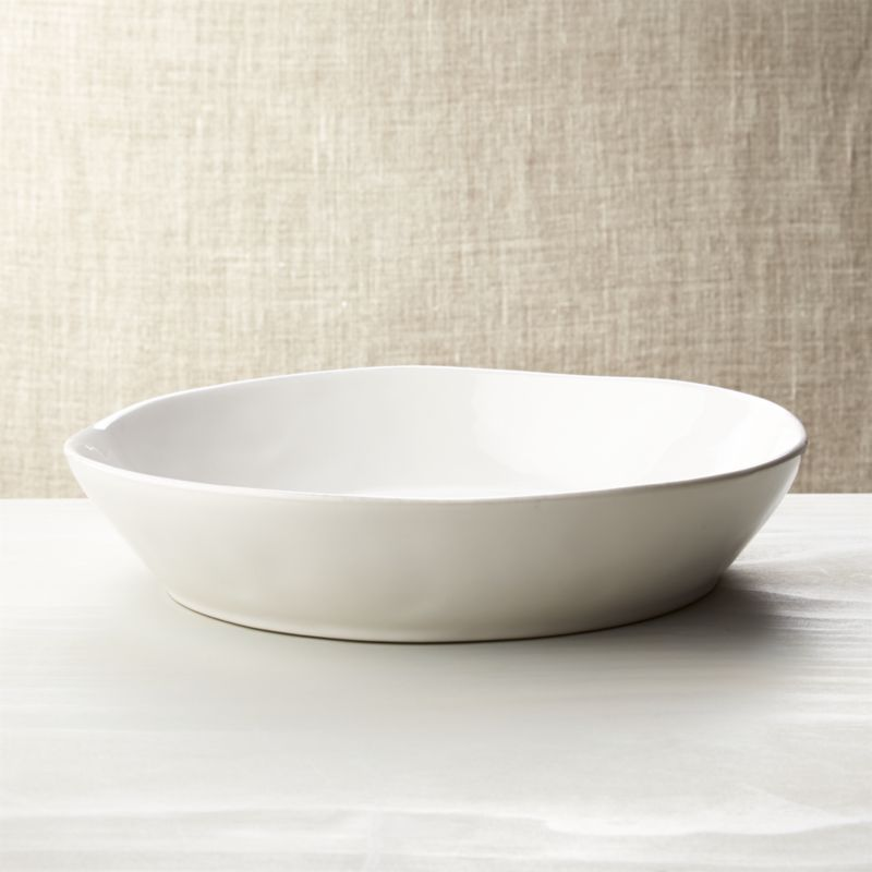 Marin white centerpiece bowl reviews crate and barrel