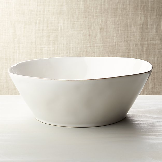 Marin White Large Serving Bowl Crate And Barrel