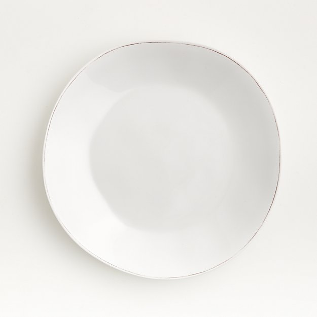 Marin White Melamine Dinner Plate - Image 1 of 4