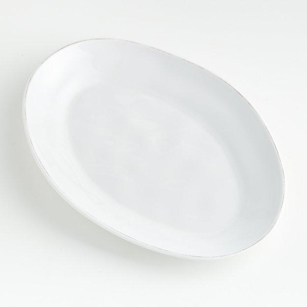 Marin White Melamine Oval Platter - Image 1 of 3