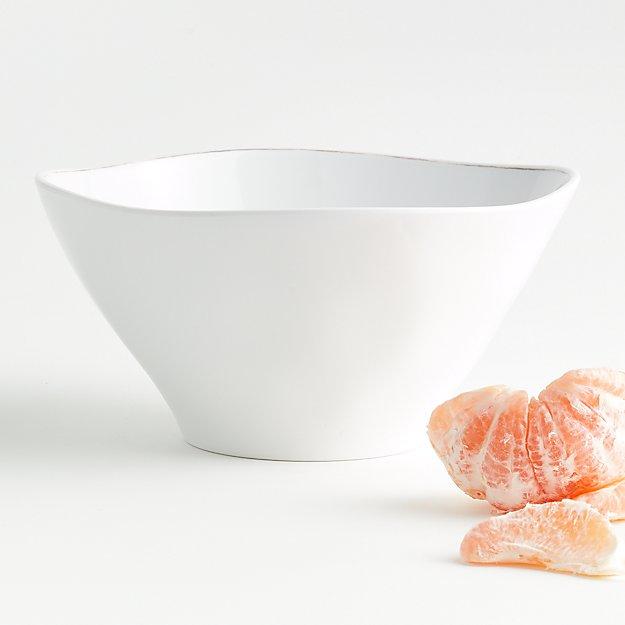 Marin White Melamine Serving Bowl - Image 1 of 4