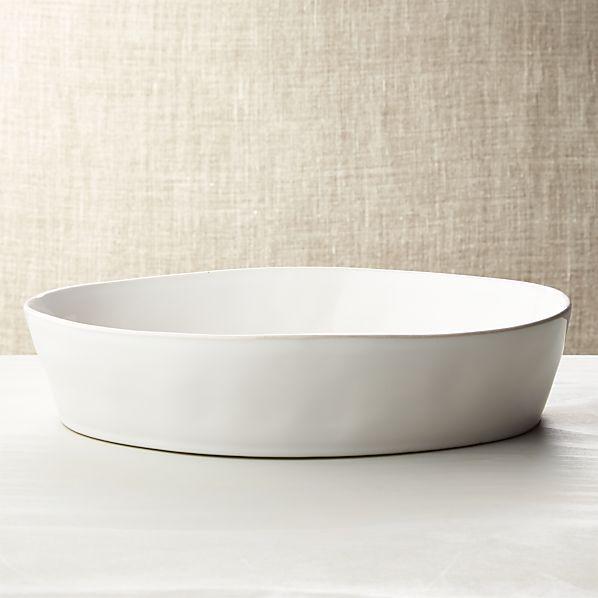"""Marin White Oval 10""""x13.75"""" Baking Dish"""
