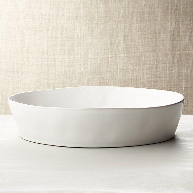 Marin White Oval Baking Dish Reviews Crate And Barrel