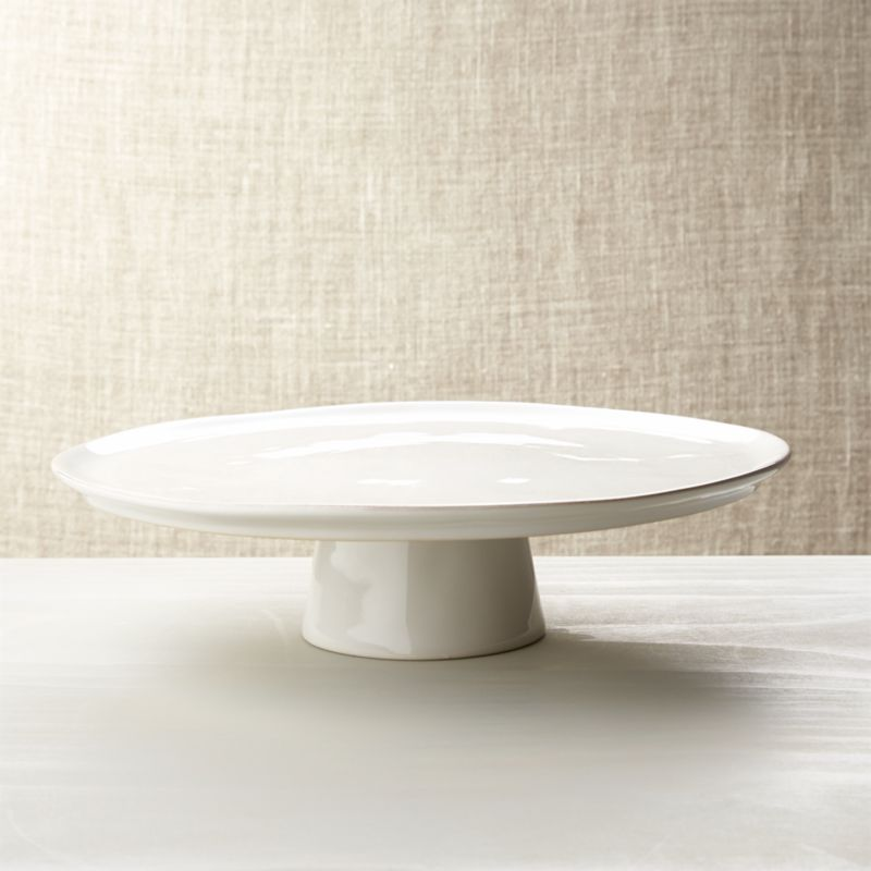 white cake stand marin white large cake stand crate and barrel 30523
