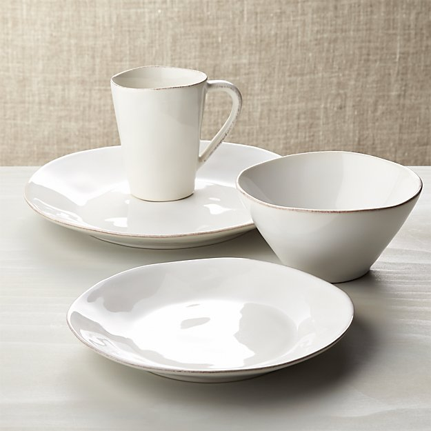 Marin White 4-Piece Place Setting