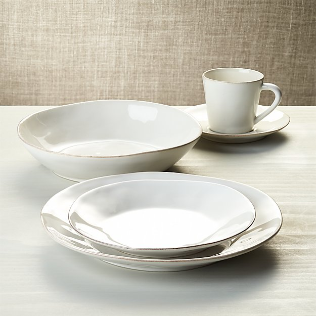 Marin white 5 piece place setting crate and barrel for Place setting images