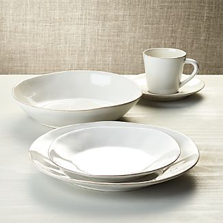 Marin White 5-Piece Place Setting : top rated dinnerware sets - pezcame.com