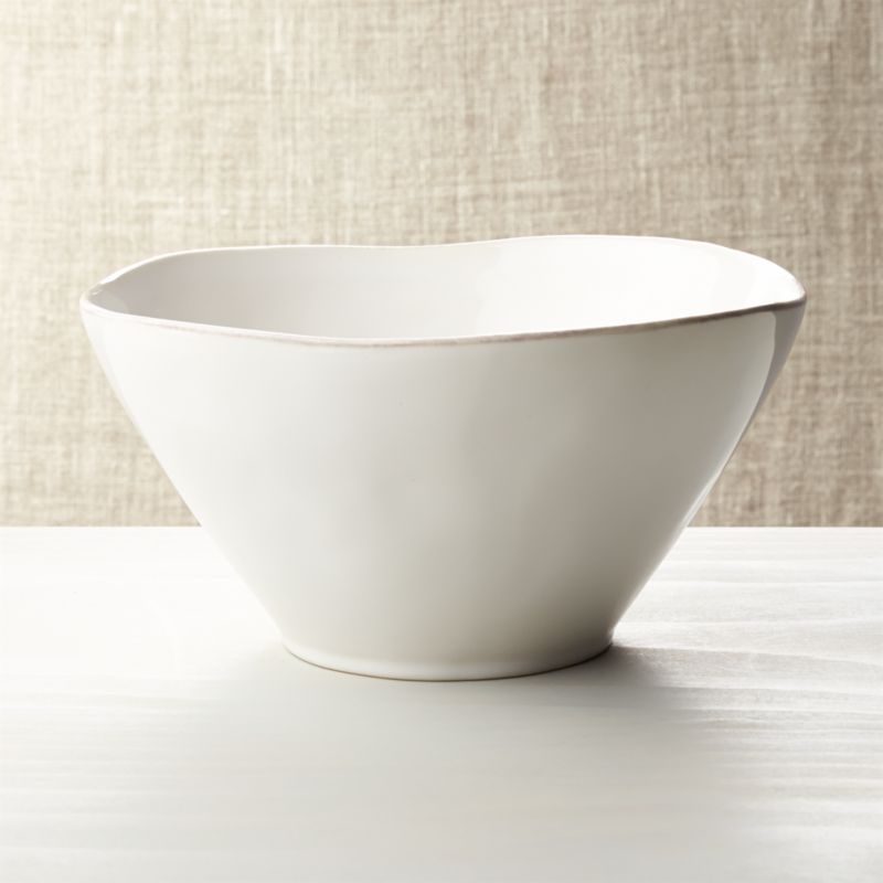 Marin White Small Serving Bowl Reviews Crate And Barrel