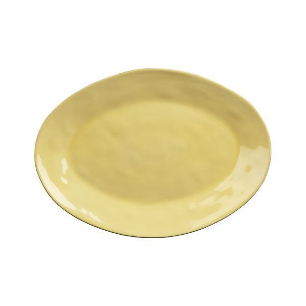 Marin Yellow Large Oval Platter