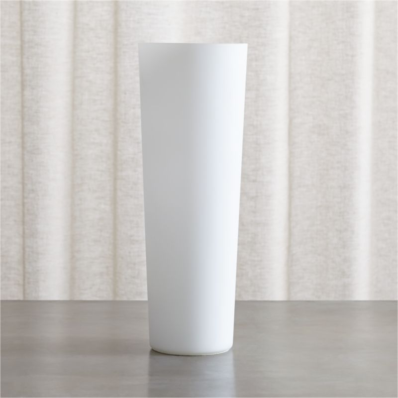 Marina frosted glass table lamp reviews crate and barrel aloadofball Image collections