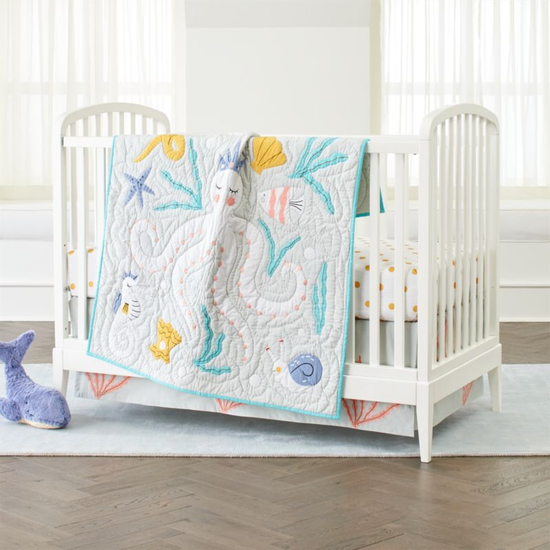 Baby Bedding Marine Life Octopus Crib Bedding Crate And