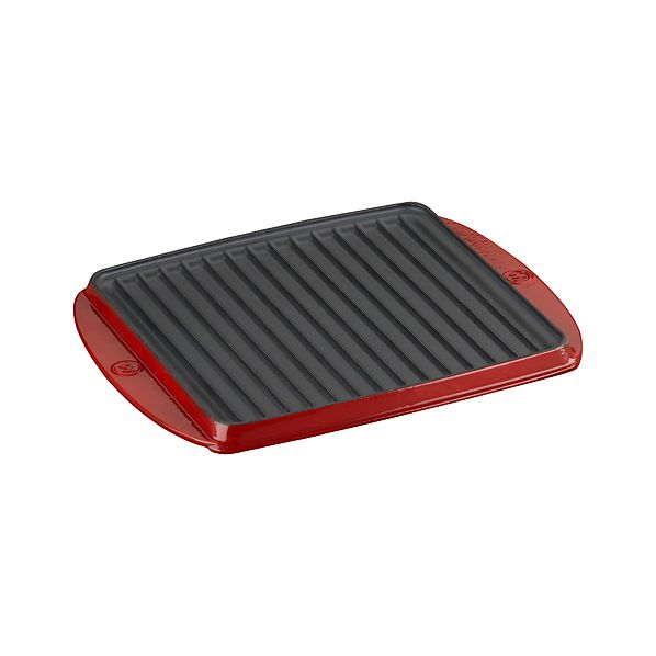 Mario Batali Red Reversible Grill-Sear Pan