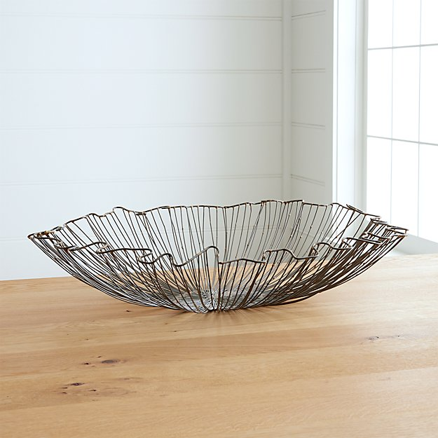 Marisol Wire Bowl Crate And Barrel