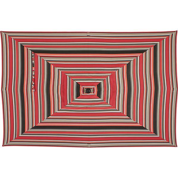 Rectangular Sunbrella ® Red Multi Stripe Umbrella Cover